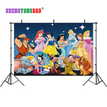 SHENGYONGBAO Art Cloth Custom Photography Backdrops Prop Cartoon Snow White theme Photo Studio Background W19329-42