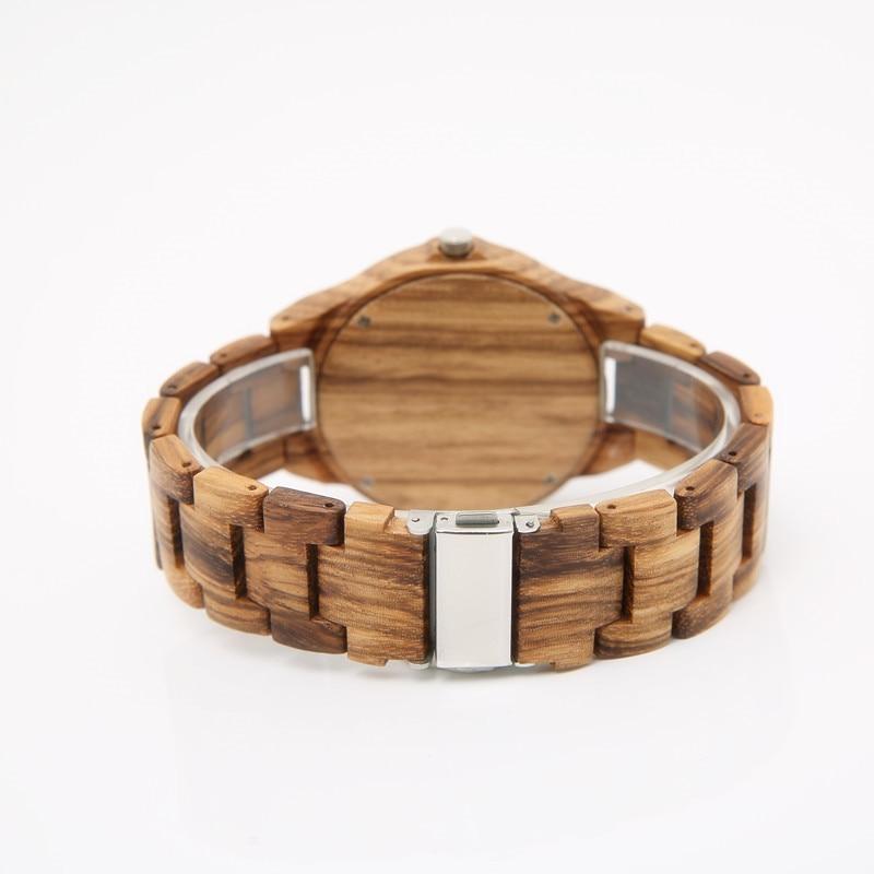 2018 Custom-made drewniany zegarek handmade dla mężczyzn specjalne - Męskie zegarki - Zdjęcie 4