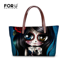 FORUDESIGNS New 2017 Women Skull Handbags Designer Luxury Brand Tote Bags Womens Clutch Handbag Famous Skull
