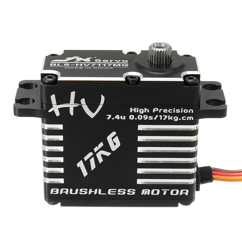 Newest JX BLS-HV7117MG 17KG HV High Precision Steel Gear Digital Brushless Servo For RC Helicopter Parts Accessories Servos sluban pink dream sweet drink house educational toys for children building blocks plastic enlighten diy bricks legoe compatible