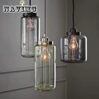 Vintage Industrial Loft Style LED Pendant Lights E27*3 Retro Glass Bottle Pendant Lamp RH Hanglamp Fixtures Home Lighting