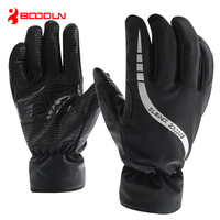New Winter Thicken Fleece Men's Cycling Gloves For Bicycle Cotton Exercise Bike Snowboard Mittens Waterproof Guantes Ciclismo