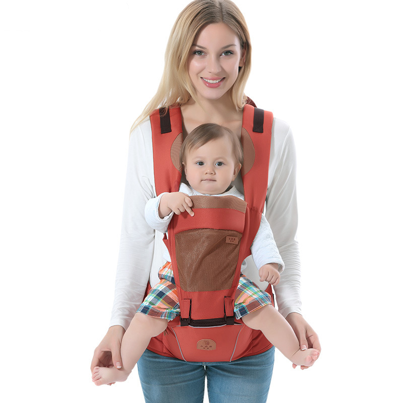 2017 Ergonomic Multi function Breathable Baby Carriers Four Seasons General Front Carry Back Carry Kids Children