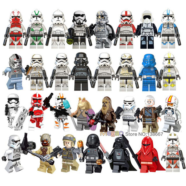 Building Blocks legoings Jedi Star Wars Clone Rebel Trooper Imperial Ground Crew Lor San Tekka Stormtrooper Army figures Toys