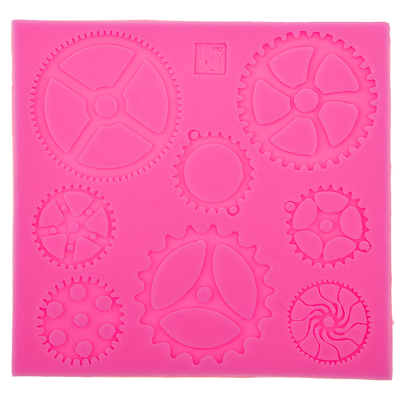 Cogs & Gears Silicone Molds Fondant Cake Molds Cupcake Mold Baking & Pastry Tools Chocolate Kitchen Accessories F0549