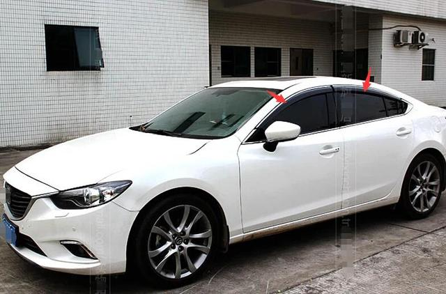 New Style For Mazda 6 ATENZA Sedan 2014 2015 Window Visors Awnings Wind Rain Deflector Visor Guard Vent