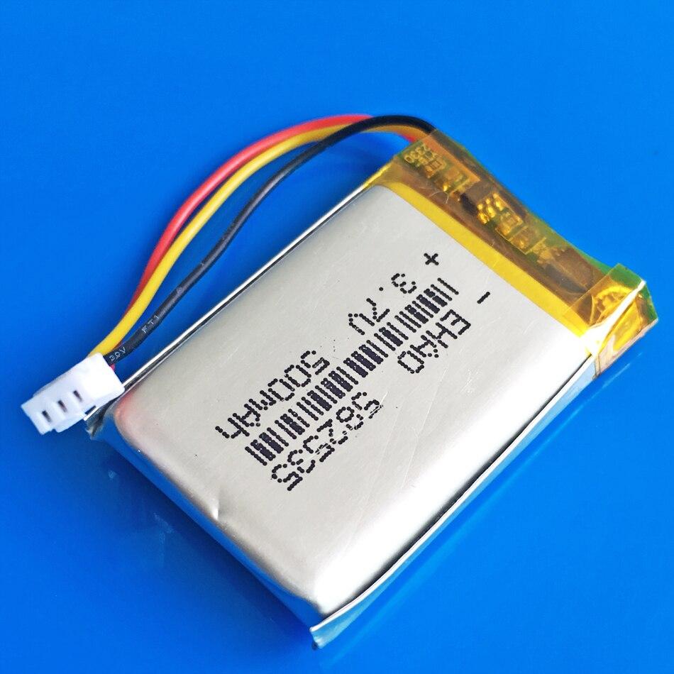 3,7 V 500 mAh lipo de polímero de litio batería recargable 582535 para SP5 MP3 MP4 GPS DVD grabadora bluetooth auriculares e-book cámara
