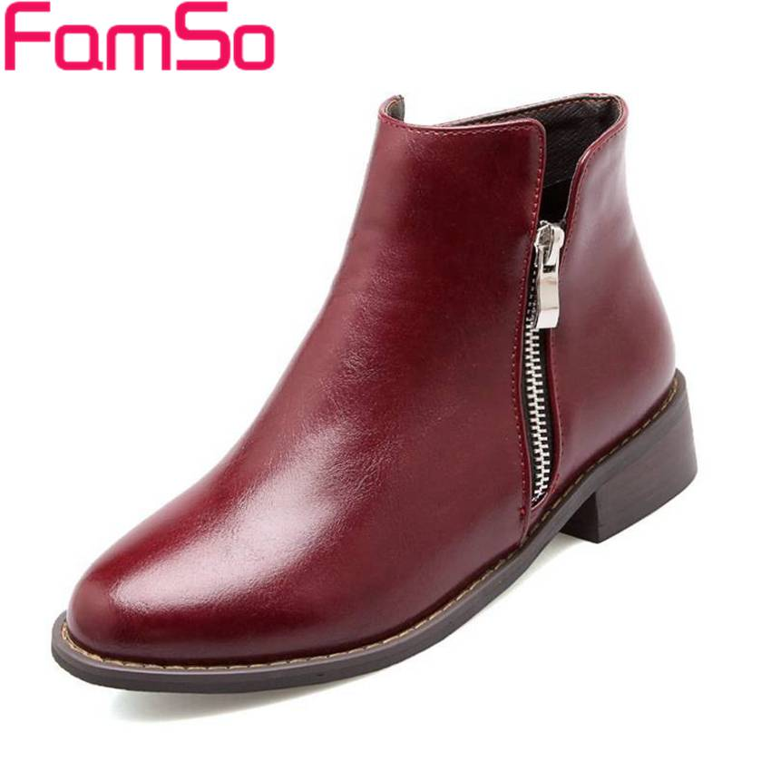 Plus Size34 43 2016 New Sexy Lady Casual Short Ankle boots 3Colors Designer Flats font b