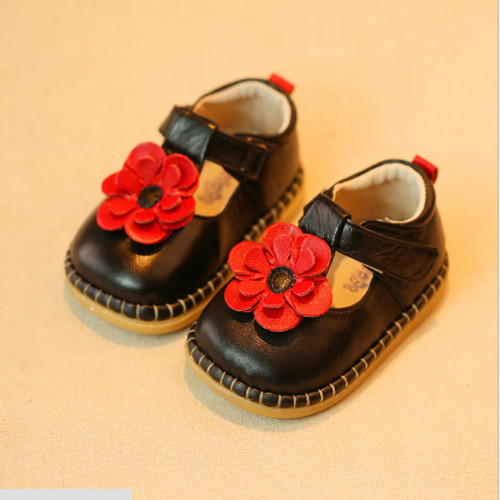 New 2016 Cute Girls Shoes Sweet Princess Baby Girls Leather Shoes Genuine Leather Baby First Walkers #2245