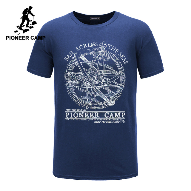 パイオニアキャンプ 2019 半袖 tシャツ男性ファッションブランドのデザイン綿 100% の tシャツ男性品質プリント tシャツ o ネック 405038
