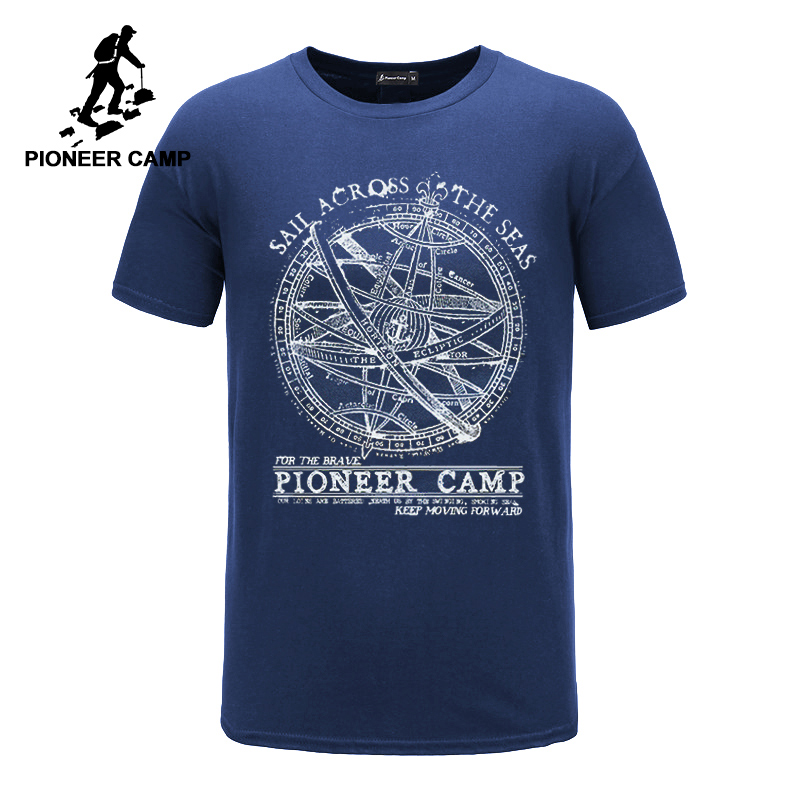 Pioneer Camp 2019 short sleeve   t     shirt   men fashion brand design 100% cotton   T  -  shirt   male quality print tshirts o-neck 405038