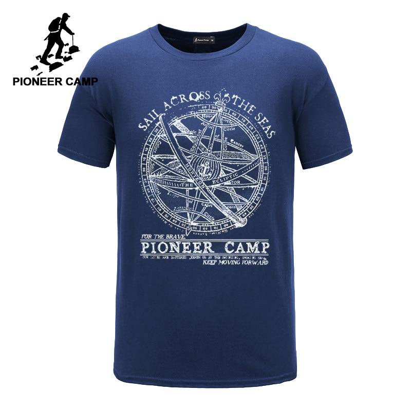 Pioneer Camp 2019 short sleeve t shirt men fashion brand design 100% cotton T-shirt male quality print tshirts o-neck 405038