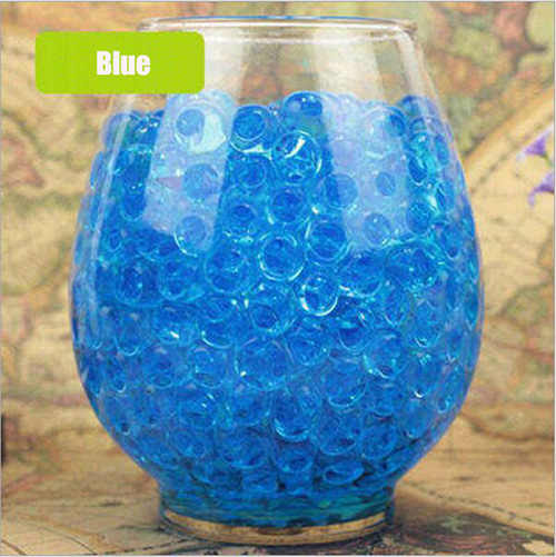 100 Stks/partij Big Blue Crystal Bodem Modder Hydrogel Gel Kids Kinderen Toy Water Kralen Opgroeien Orbiz Water Ballen Wedding home Decor