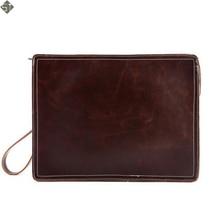 England Style new leather men Messenger Bags Large Envelope Bag Wholesale Vintage Clutch Bag Cross-Body Shoulder Bag Brown Black