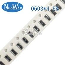 8P4R Network-Resistor SMD 10K 470 470k-Ohm 0603--4 100pcs Array 0--1m 1-10 22-47 220K