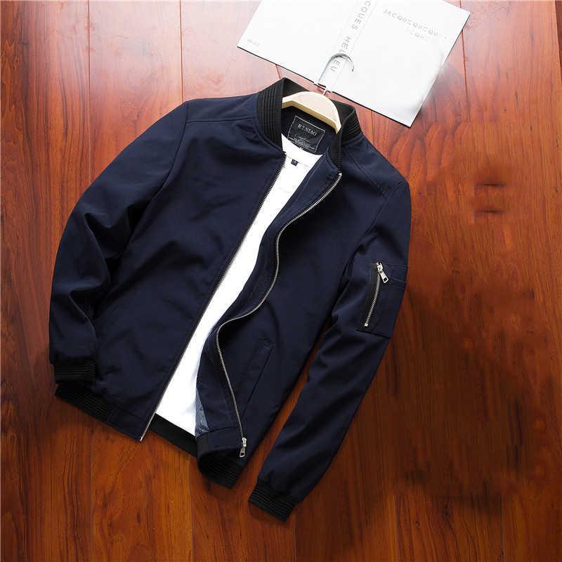 Brand New lotnictwo czarny bombowiec kurtka mężczyźni 2019 jesień Streetwear Slim Fit Pilot bombowiec kurtka płaszcz mężczyźni kurtki Plus rozmiar