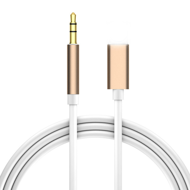 the latest 61feb ad8f9 US $2.65 40% OFF|For Lightning to 3.5mm Jack Audio Cable Car AUX For iPhone  7 8 X XR Adapter Audio Transfer Male to Male AUX Cable 1M Headphone -in ...