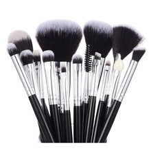 Professional Makeup Brushes Set Powder Foundation Blush Eye shadow Brow Liner Blending Highlight Contour Beauty Tools 6/12/15pcs цена