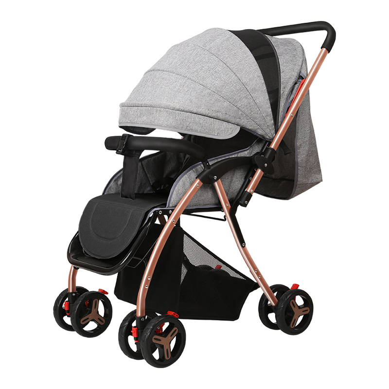 Super Lightweight High Landscape Baby Stroller for Newborns Can Sit Lying Portable Folding Baby Trolley Kids Pushchair carrinho folding baby stroller lightweight baby prams for newborns high landscape portable baby carriage sitting lying 2 in 1