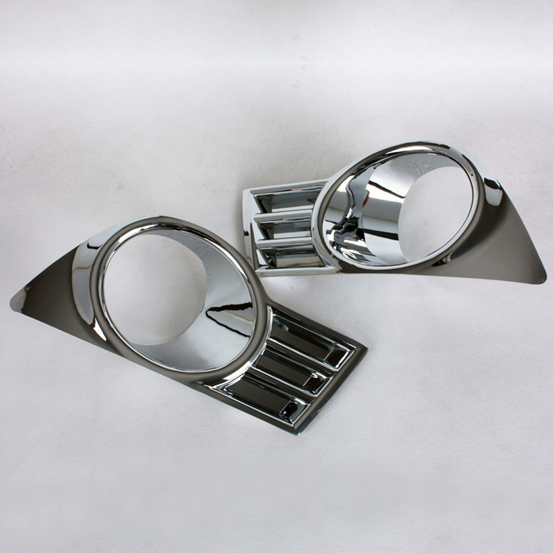 Free Shipping High Quality ABS Chrome Front Fog lamps cover Trim Fog lamp shade Trim For Suzuki SX4 high quality chrome tail light cover for mitsubishi l200 triton free shipping