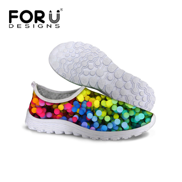 Summer Style Women Casual Shoes Breathable Barefoot Zapatillas Shoes Female Lady Polka Dot Comfortable Trainer Walking Shoes
