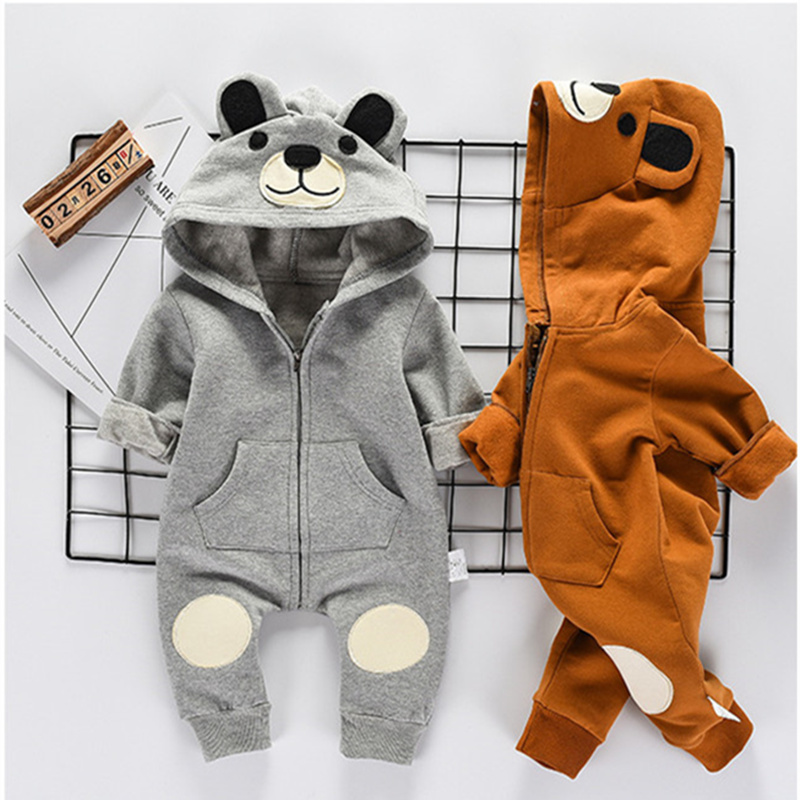 2017 Autumn Baby Girl Clothes Newborn Boys Romper Cute Bear Clothes For Children Infant Girls Jump Suit Baby Boy Body Suits puseky 2017 infant romper baby boys girls jumpsuit newborn bebe clothing hooded toddler baby clothes cute panda romper costumes