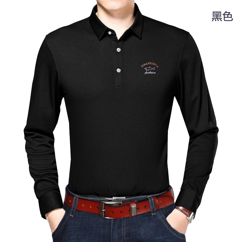 Dirweimon brand Men Casual   Polo   Shirts Long Sleeve   Polo   Shirts Classic Cotton Men Tops Tees Big men Plus size 6XL 7XL 8XL 9XL