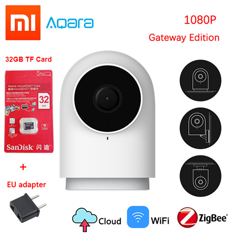 Original Xiaomi Aqara 1080P Smart Camera G2 Gateway Version Zigbee Linkage IP Wifi Wireless Cloud Home