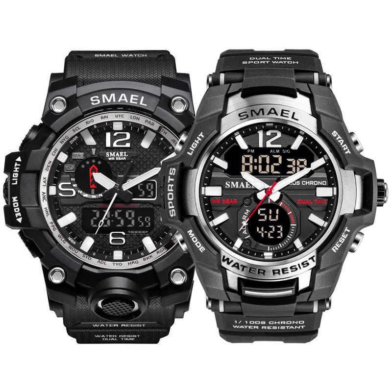 Speciale Sport HEREN horloges SET top merk luxe waterdichte fashion mannen horloge Led Quartz militaire 1545 1805sport horloge pak