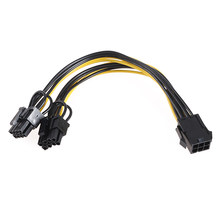 1 PC 6 Pin PCI-E Module Female To Dual 8 Pin 6+2P Male Video Card Power Adapter Cable(China)