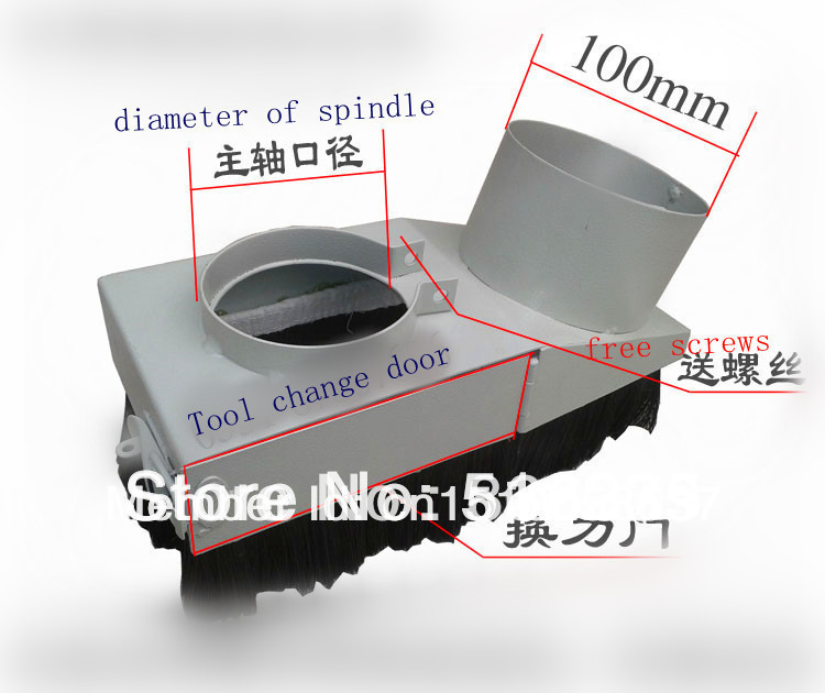 Free Shipping Diameter 100mm Vacuum Cleaner Engraving machine Dust Cover for CNC Router and spindle motor