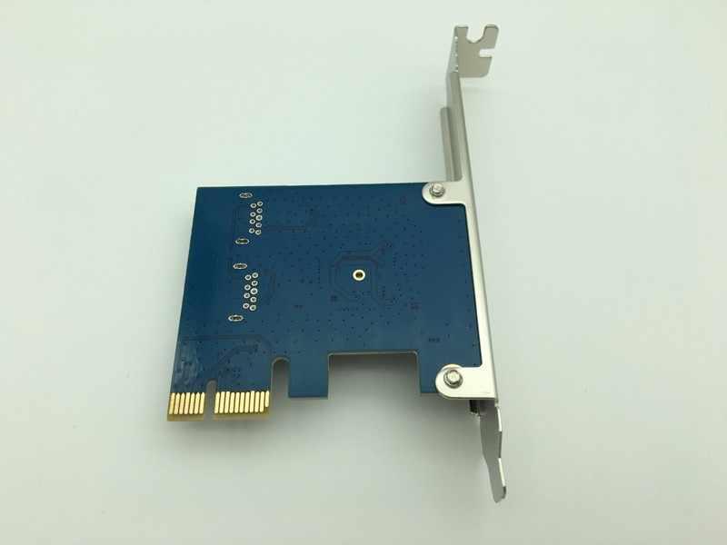 PCI-E PCI Express 1x כדי 16x חריצים Riser כרטיס 1 כדי 2 כפולה יציאת USB 3.0 Extender להמיר כרטיס רכזת מתאם עבור Bitcoin כורה כרייה