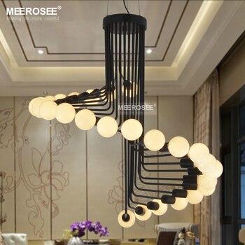 Современные Лофт Промышленные люстры огни барная лестница столовая освещение ретро Meerosee люстры светильники люстры