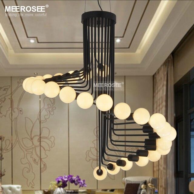 Modern Loft Industrial Chandelier Lights Bar Stair Dining Room Lighting  Retro Meerosee Chandeliers Lamps Fixtures Lustres