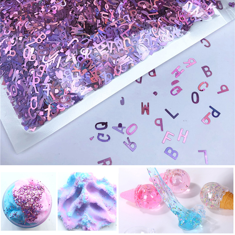 10g/Pack DIY Face Eye Body Hair Nail 26 Letter Shape Sequins Tattoo Cosmetic Glitter Acrylic Art Baby Children Beads Makeup Toys