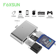 HUB Adapter SD Card Reader,USB3.1 OTG Type-C Adapter for CF/ SD/ TF Micro SD for Apple Mac Book/ Samsung Galaxy S7/S7 Edge/S8/S8