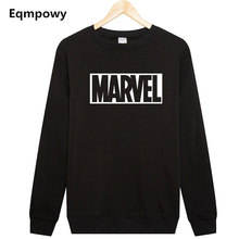 2017 New Marvel Letter Print letter Sweatshirt Men Hoodies Fashion Solid Hoody Men Pullover Men's Tracksuits male coats