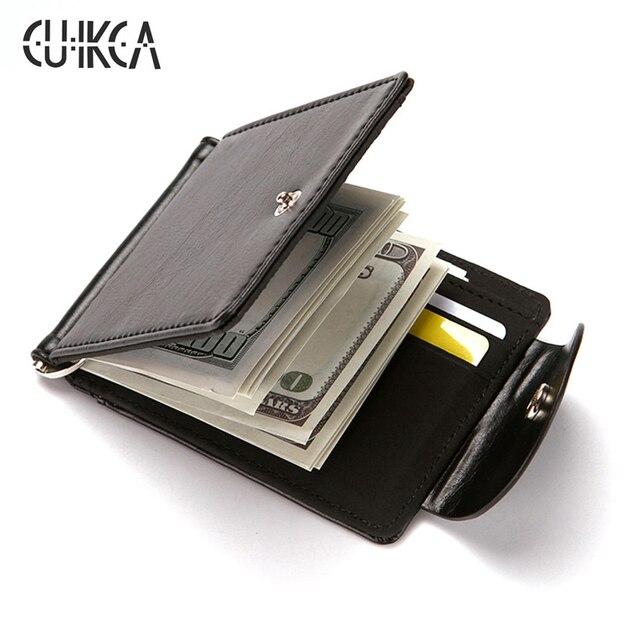 fcf648d37e1904 Korea mode qualität PU leder Geld clips männer brieftaschen haspe  geldbörsen vintage männer brieftasche brieftasche Carteira