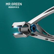 Mr. GREEN кусачки для ногтей Триммер из нержавеющей стали инструменты для ногтей Маникюрные толстые кусачки для ногтей Ножницы со стеклянной пилкой для ногтей