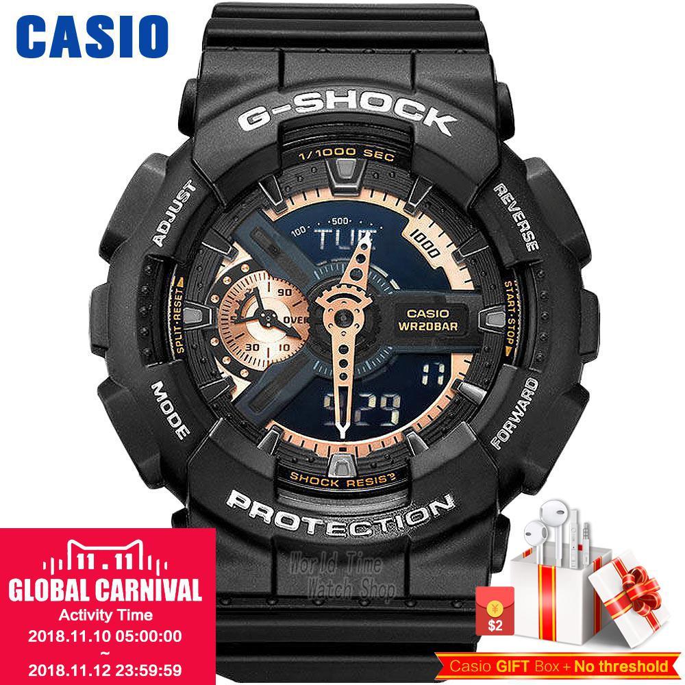 Casio watch Casual sports multi - functional men 's watch waterproof time watch GA-110RG-1A GA-110RG-7A casio ga 120trm 7a