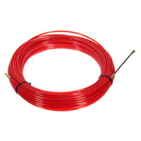 NEW Nylon Steel Red Fish Draw Tape Electrical Cable Puller Pulling Electricians + Wheel Durable Quality