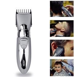 Recarregável à prova dwaterproof água máquina de cortar cabelo barba elétrica aparador de pêlos barbeador corpo bigode aparador de barbear corte de cabelo 55