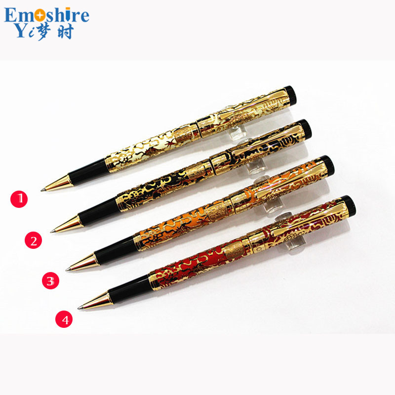 free Shipping Top Brand Metal Ballpoint Pen Ball Pen Commercial Gift Pen Best Quality Roller Ball Pen JH015 emoshire free shipping branding ball pens vintage wooden ballpoint pen customized student office school gift can oem logo p121