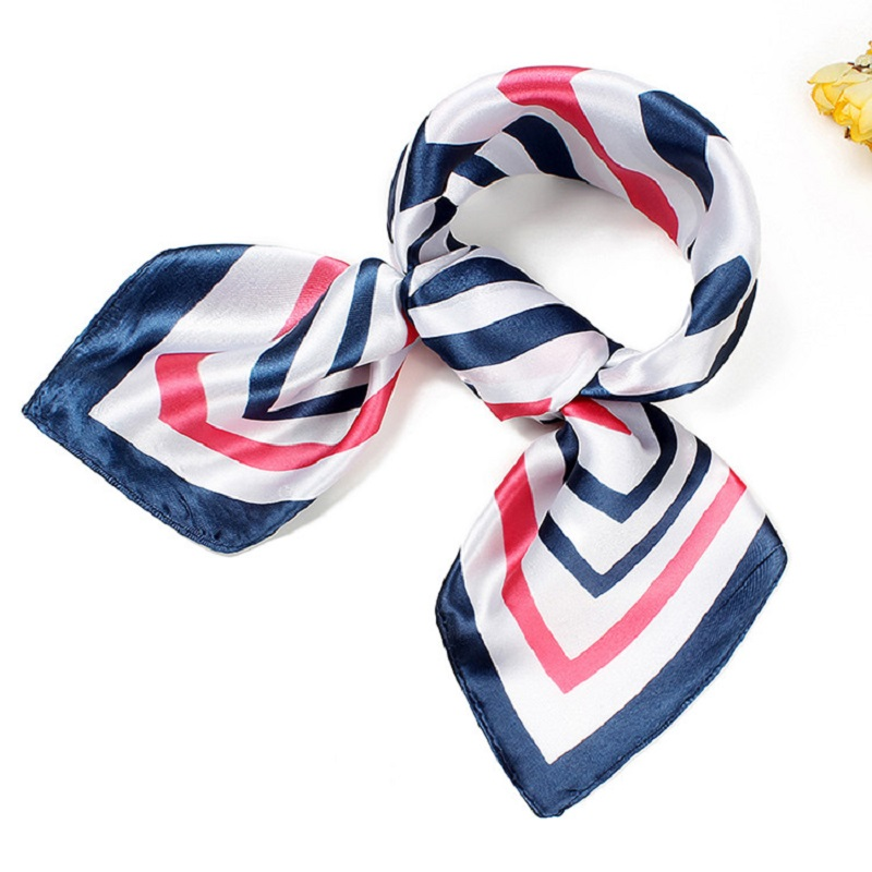 Small Square Silk Scarf NeckerChief Hot Sale Office Workwear Scarves Women Bandana 60 Cm Colors Twill Scarfs BBC24