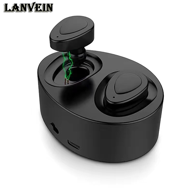 LANVEIN K2 Bluetooth headphone Wireless Stereo earphone  headset handsfree music earbud with microphone charging box for phone bluetooth earphone wireless music headphone car kit handsfree headset phone earbud fone de ouvido with mic remax rb t9