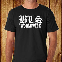 2018 Short Sleeve Cotton T Shirts Man Clothing BLS BLACK LABEL SOCIETY Worldwide Men S Black