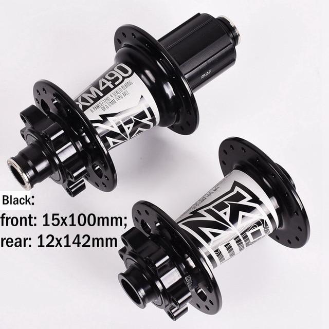 KOOZER Front Hub 32H MTB XC Bike disc brake Hubs 100*9//100*15 Thru Axle QR Gray
