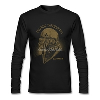 Black Sabbath Music T Shirts Pop Vegan T Shirt Custom Long Sleeve Pure Cotton Tees
