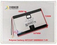 7 4 V 5000 mAH 4072107 (polymer lithium ionen batterie) universal Li Ion batterie für tablet pc 8 inch 9 inch 10 inch-in Tablet-Akkus & Backup-Stromversorgung aus Computer und Büro bei