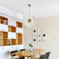 Творческая личность постмодерн простота стекло подвесной светильник Nordic гостиная ресторан спальня Ледяной цветок светодиодный